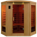 4 person far infrared corner sauna