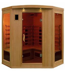 4 person far infrared corner sauna